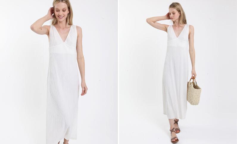 Robe longue blanc