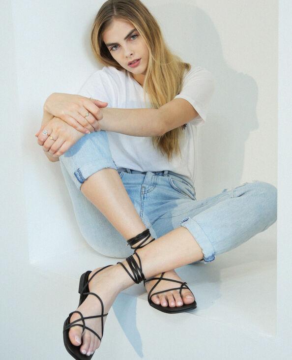 Sandales à lacets noir - Pimkie