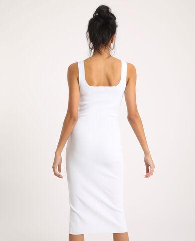 Robe moulante blanc