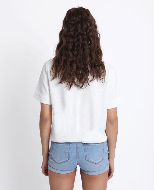 Top à poches blanc