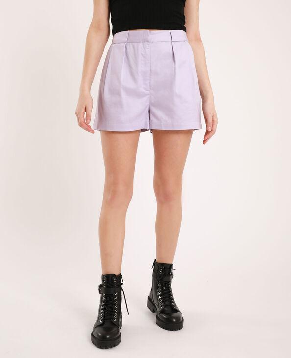 Short à pinces violet