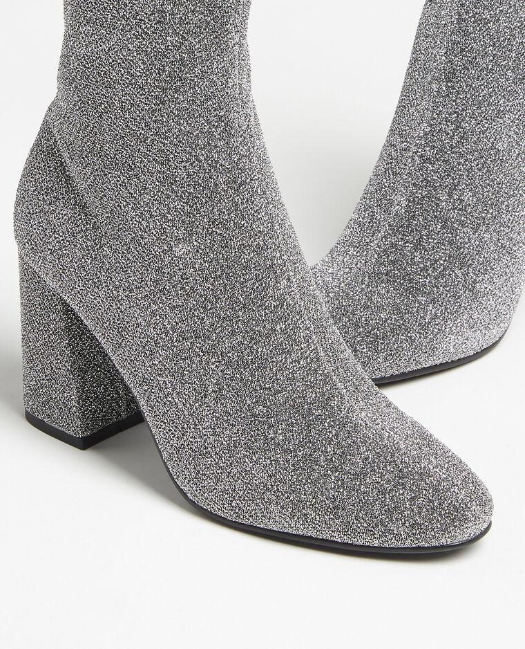 Laarzen van microvezel zilvergrijs