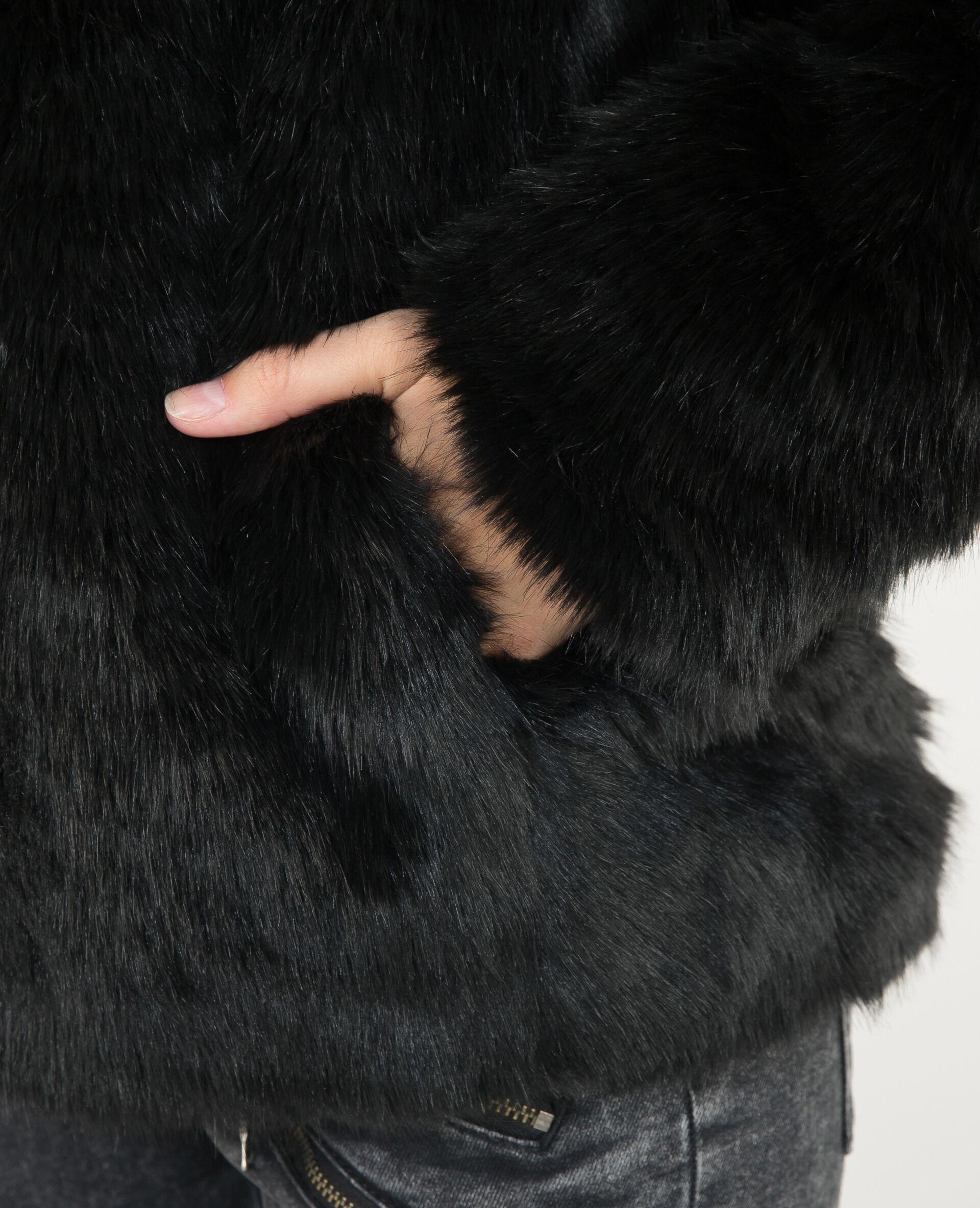 Manteau Fausse Fourrure Fausse Manteau Fourrure Noir 281073899a08Pimkie 13TlJcFK