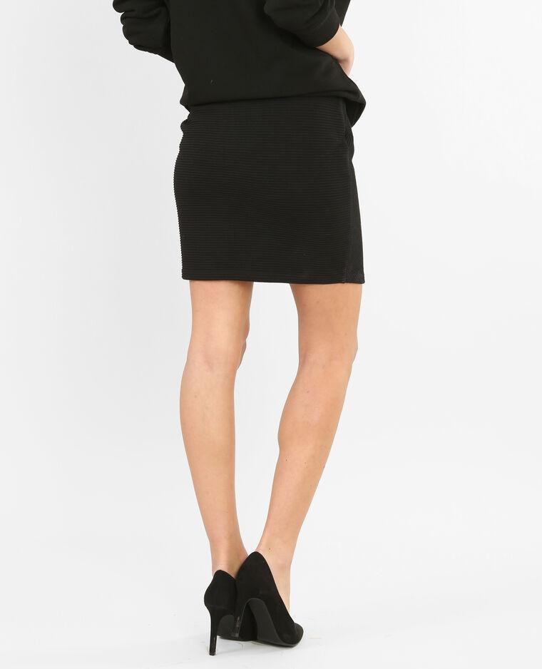 325586754b Mini jupe texturée croisée noir - 690324899A08   Pimkie