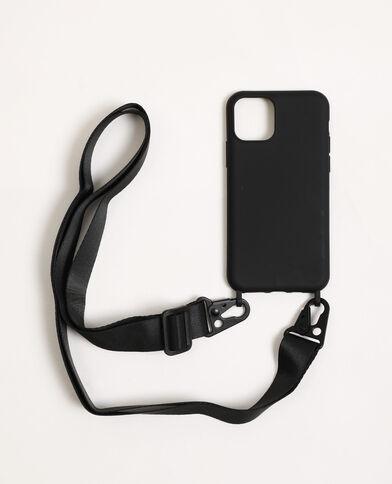 iPhone-hoesje met schouderband zwart