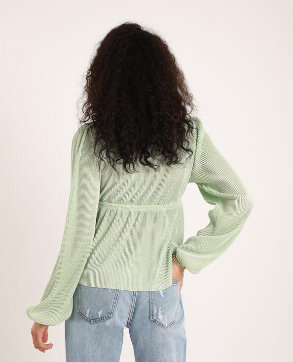 Blouse plissée vert
