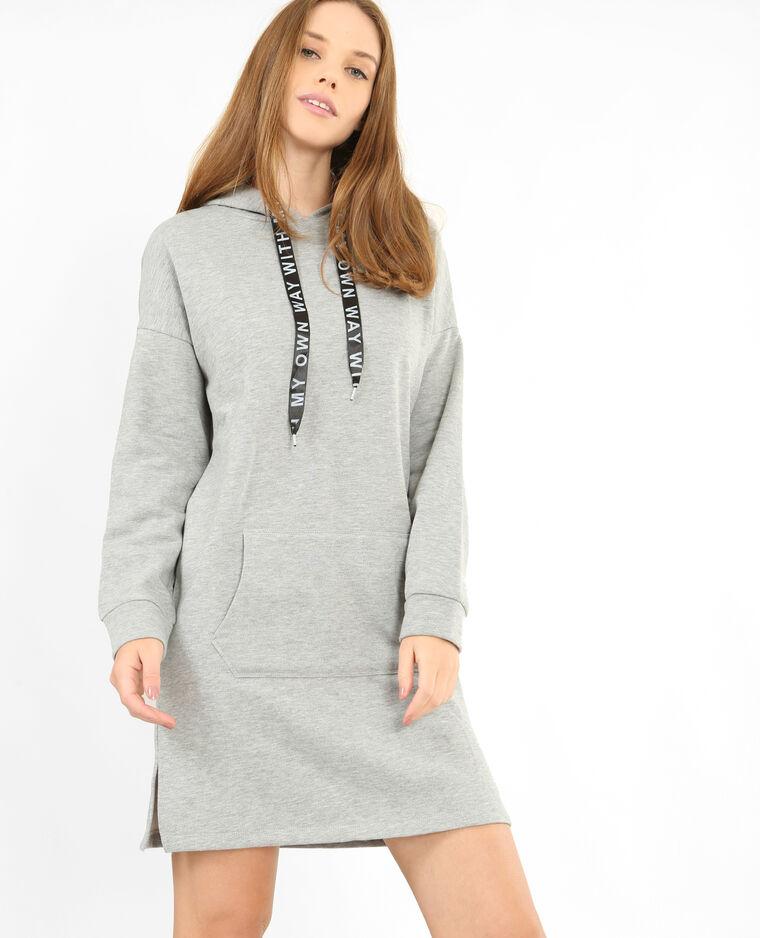 Robe sweat gris chiné - 780770830A08   Pimkie 034fdadf9312