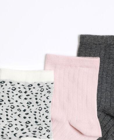 Set van 3 paar sokken grijs