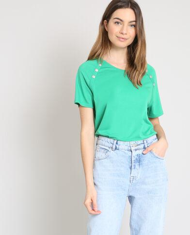 T-shirt met drukknopen groen
