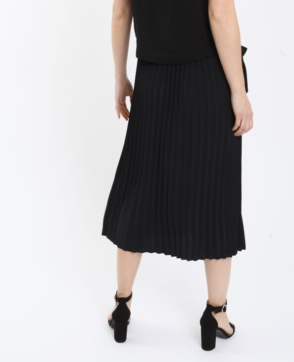Jupe plissée noir