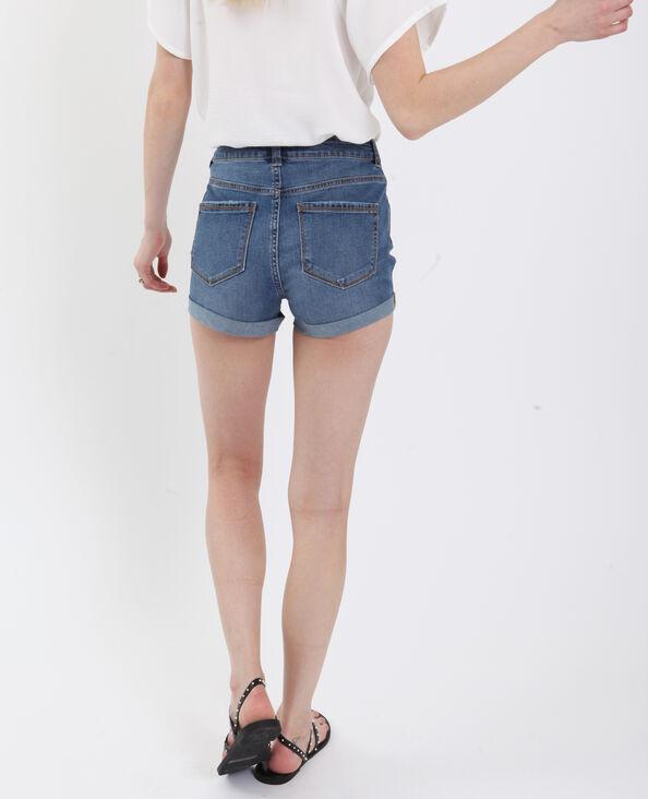 Jeansshort denimblauw
