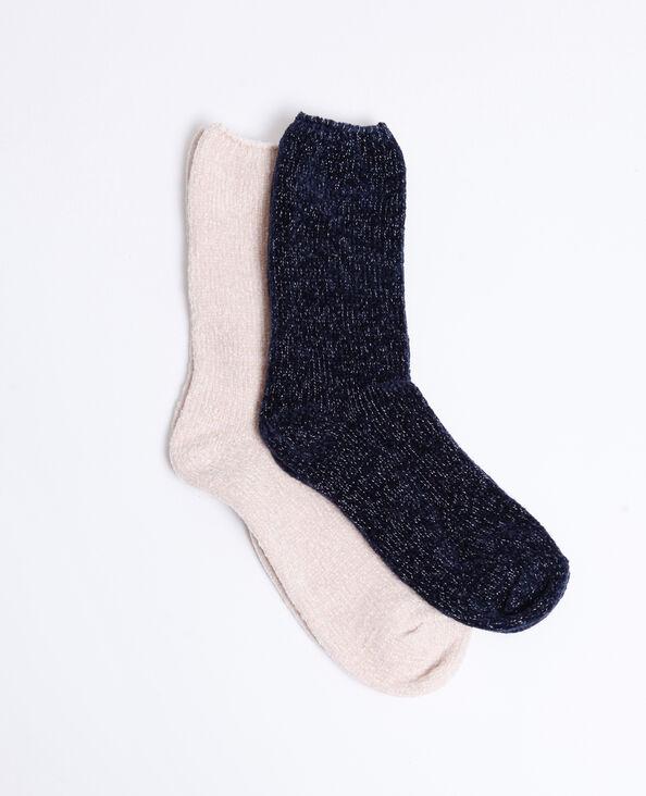 Lot de 2 paires de chaussettes douces rose nude