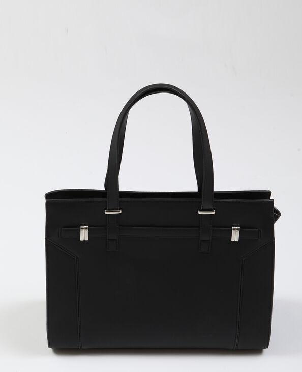 Handtas van imitatieleer zwart