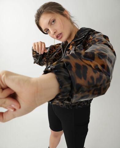 Veste imperméable léopard marron - Pimkie