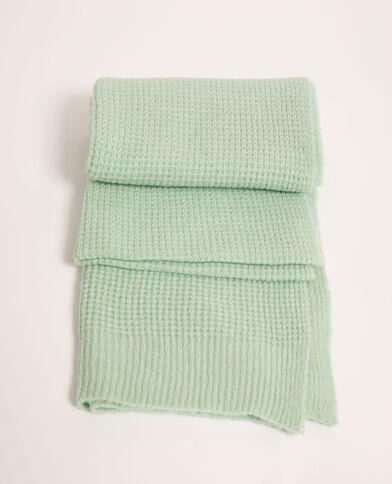 Sjaal van gewafelde stof groen - Pimkie