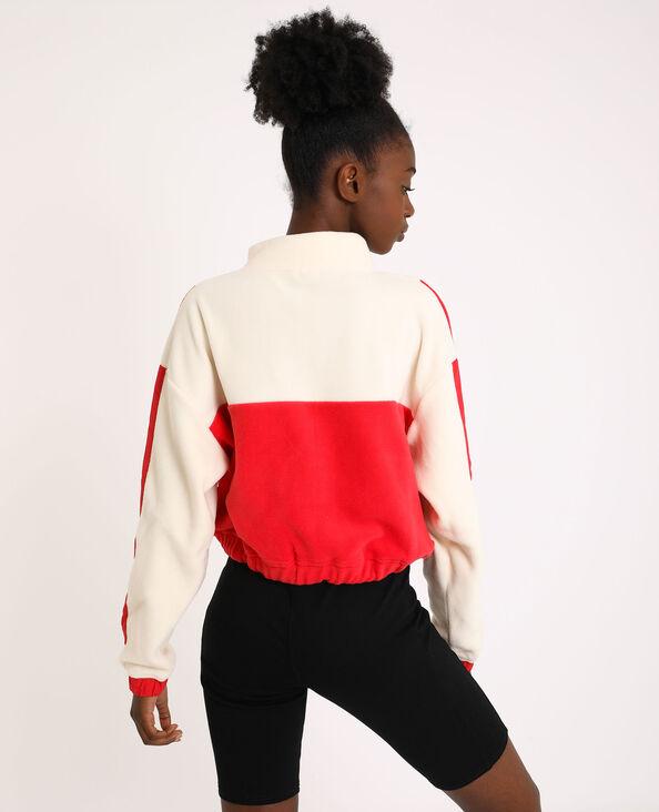 Sweater van fleece oranjebeige