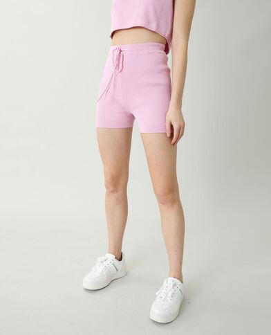 Fietsbroek van tricot roze - Pimkie
