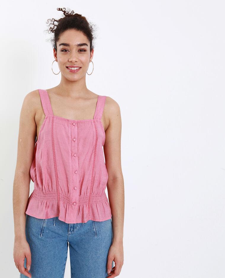 Topje met brede schouderbandjes roze