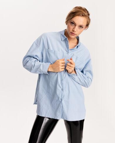 Hemd van velours blauw