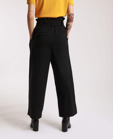Broek met brede pijpen zwart