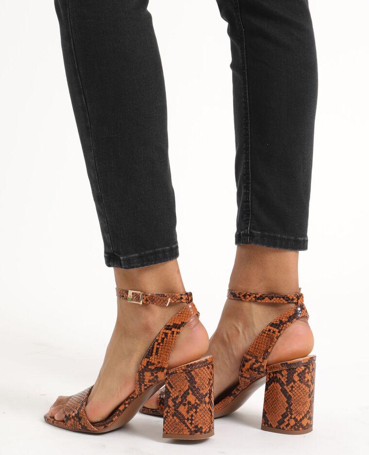 Sandales python marron