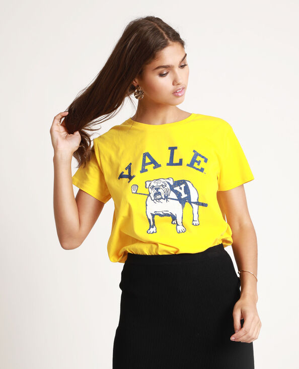 T-shirt Yale jaune