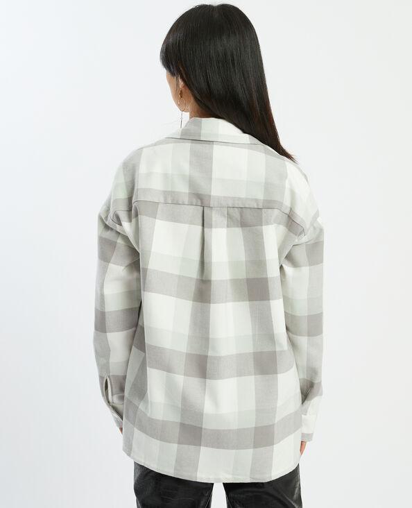 Hemd met grote ruiten zwart - Pimkie