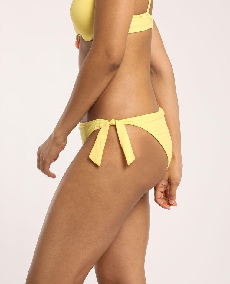 Bas de bikini à nœud jaune