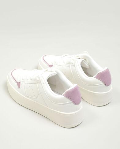 Sneakers met plateauzolen gebroken wit - Pimkie
