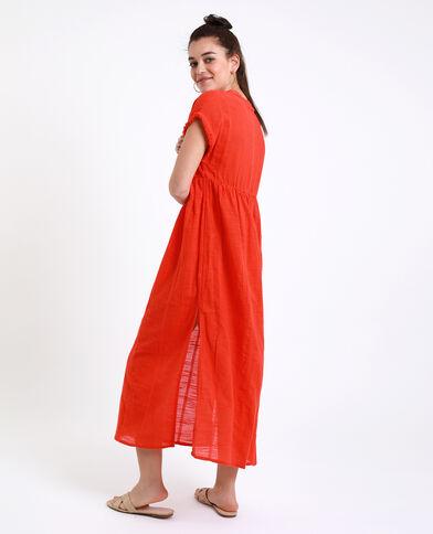 Robe de plage orange
