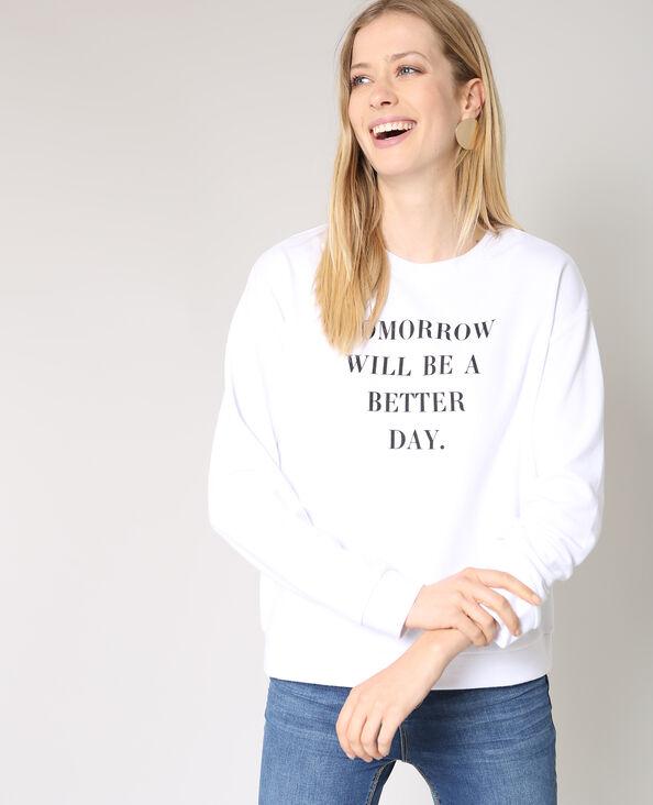 Sweater met tekst wit