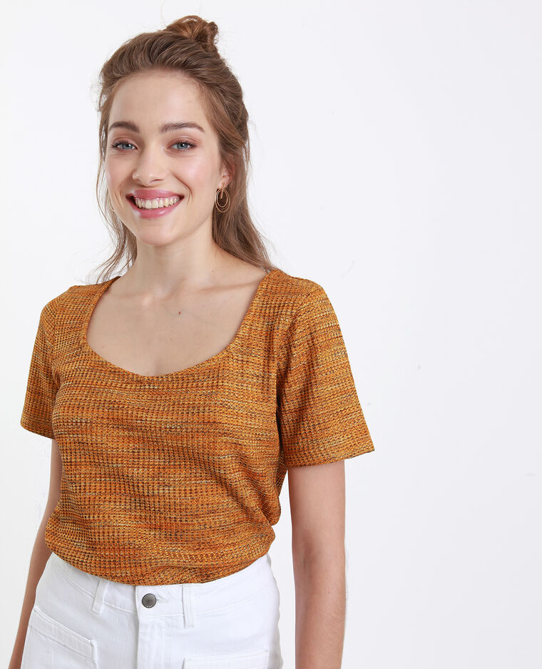 T-shirt nid d'abeille jaune