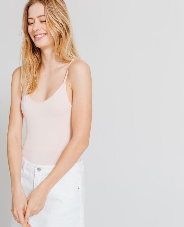 Body met dunne schouderbandjes roze