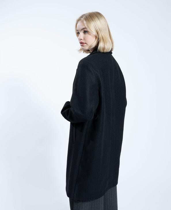 Lange mantel zwart - Pimkie