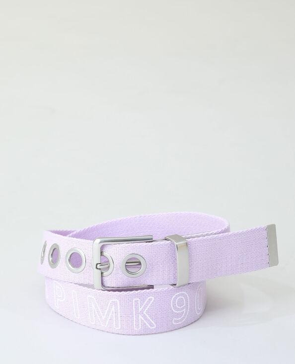 Ceinture coton violet
