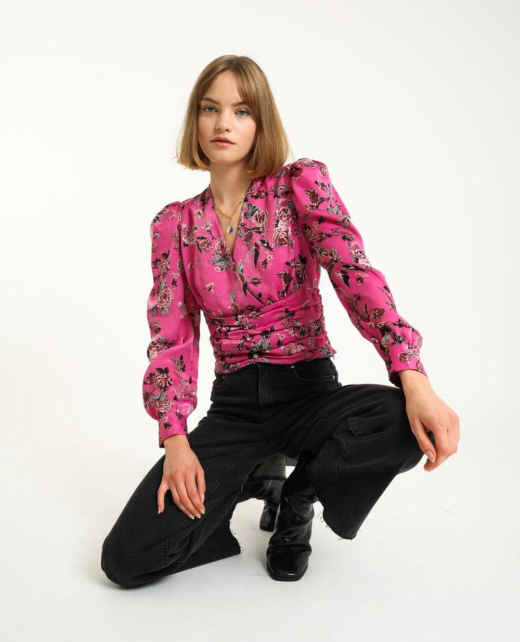Gekruist shirt roze