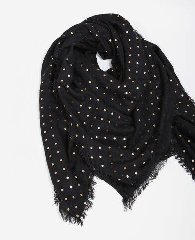 Foulard à pois noir