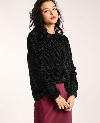 Fluffy trui zwart