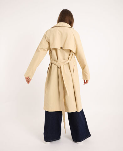 Trench long blanc cassé