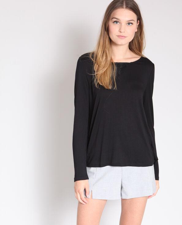 T-shirt à dentelle noir
