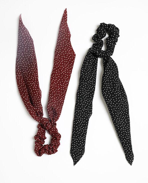 Set van 2 scrunchies met lint zwart