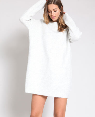 Trui-jurk gemêleerd grijs