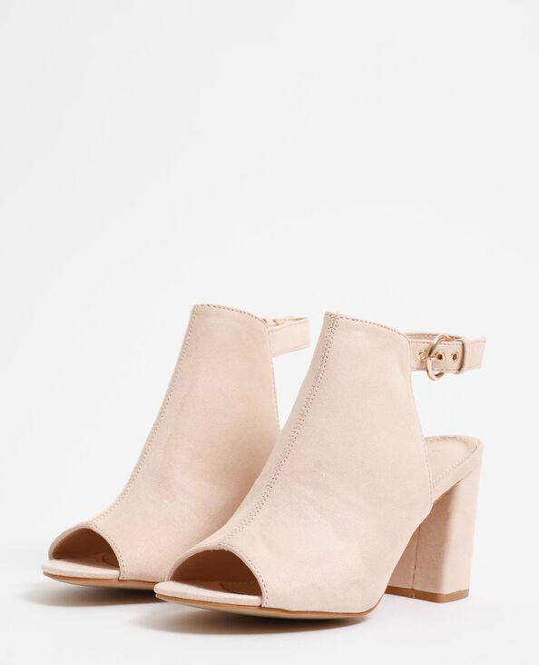 Open sandalen poederroze