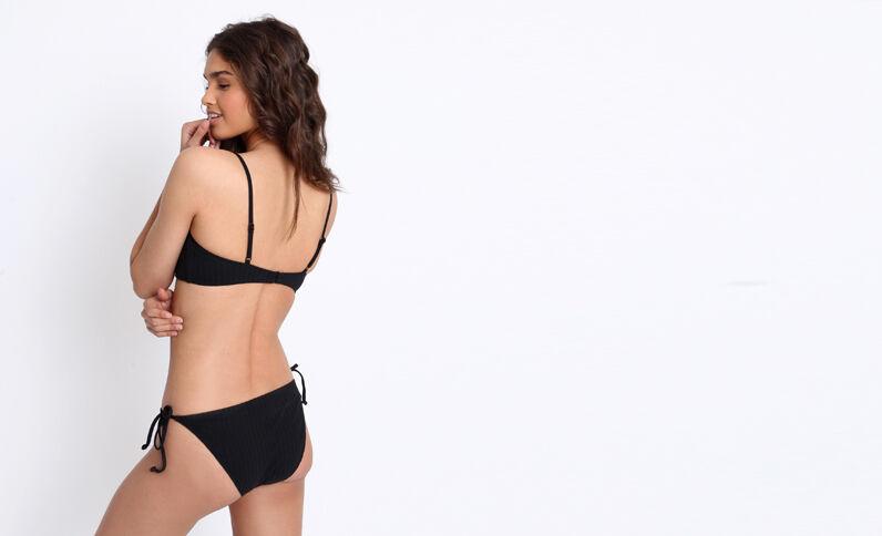 Bas de bikini à nœuds noir