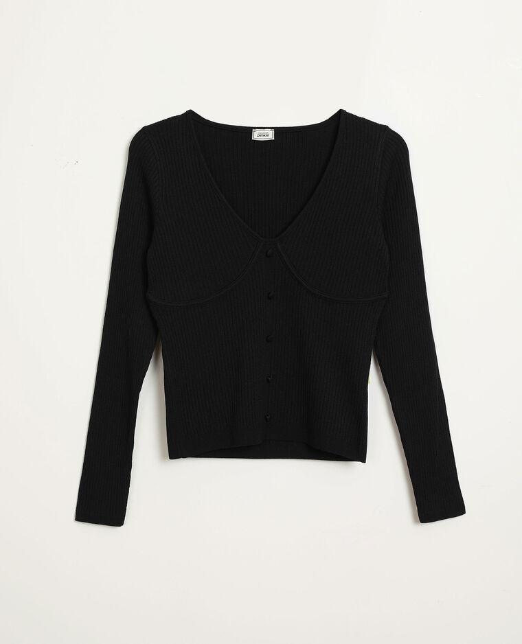 Top van tricot zwart - Pimkie