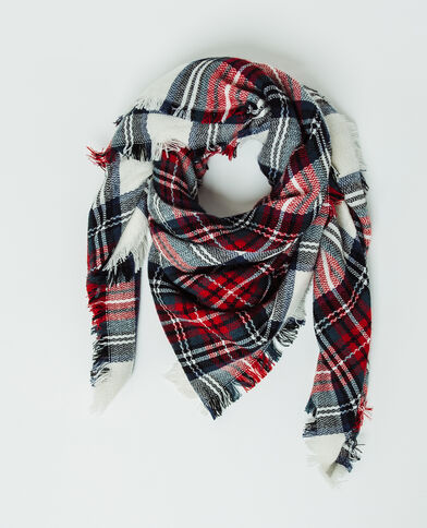 Echarpe à carreaux rouge