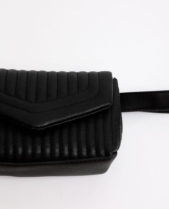 Gewatteerde riemtas zwart
