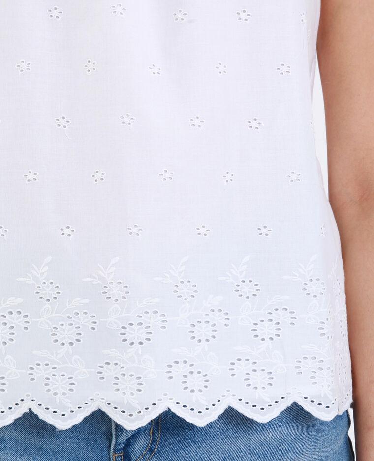 Topje met borduursels wit