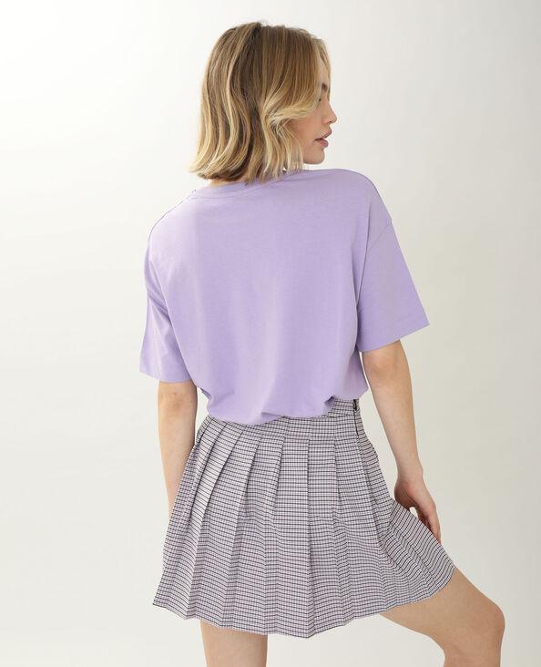 T-shirt brodé violet