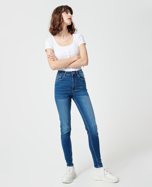 Skinny jeans donkerblauw - Pimkie